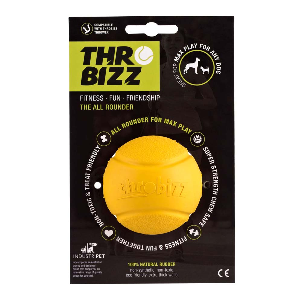 rubber ball in black packaging