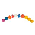 colourful line up of rubber dog balls