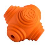 star shaped rubber dog ball in orange