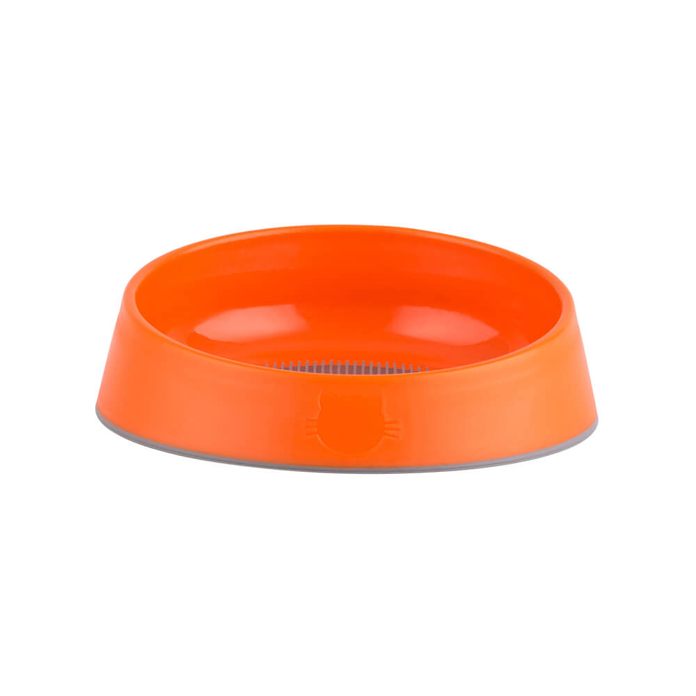 orange designer cat bowl
