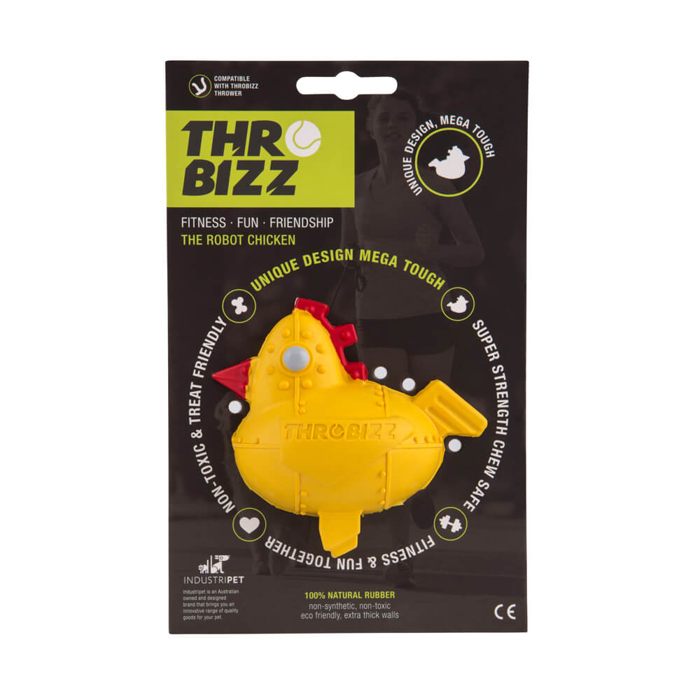 rubber chicken pet ball