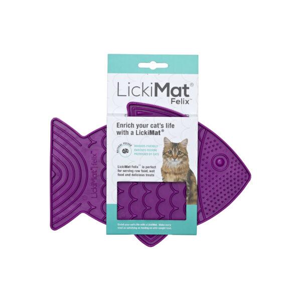 LickiMat Felix cat slow feeder
