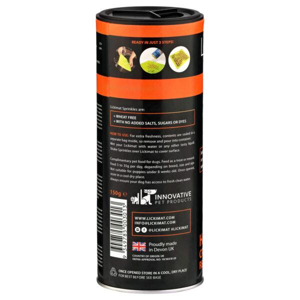 LickiMat Sprinkles duck and orange ingredients