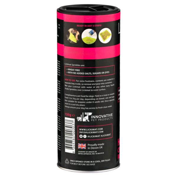 ingredient LickiMat Sprinklesliver turmeric dog treat